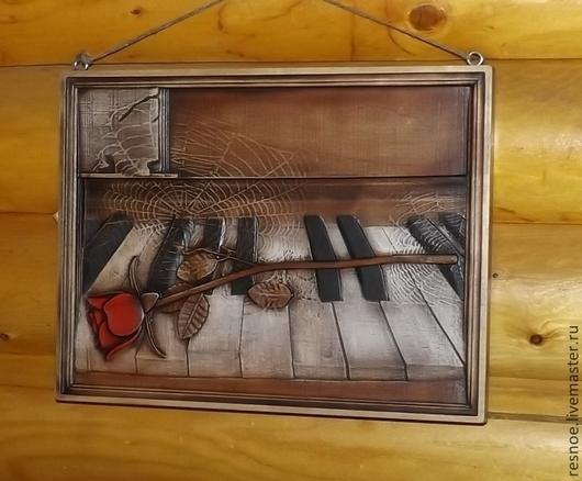 Символизм ручной работы. Ярмарка Мастеров - ручная работа. Купить Резное дерево_Забытая музыка. Handmade. Старый рояль, паутина