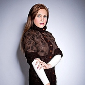Одежда handmade. Livemaster - original item Cardigan Chocolate. Handmade.