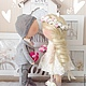 Куклы Тильды ручной работы. Влюбленная парочка. Наталья (lapetitedolls). Интернет-магазин Ярмарка Мастеров. Розовый, интерьерная кукла, свадьба