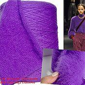 Yarn handmade. Livemaster - original item Yarn: Angora. Yarn fluff mink.Color purple in lilac.. Handmade.