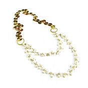Украшения handmade. Livemaster - original item Pearl necklace, Gold necklace, Delicate pearl necklace. Handmade.