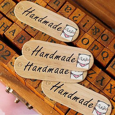 Материалы для творчества ручной работы. Ярмарка Мастеров - ручная работа БИРКА для изделий ручной работы. Handmade.