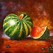 Картины и панно handmade. Livemaster - original item Oil painting Watermelon. Handmade.