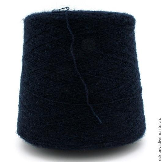 Вязание ручной работы. Ярмарка Мастеров - ручная работа. Купить Мохер с мериносом. Handmade. Тёмно-синий, пряжа для вязания