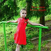 Работы для детей, ручной работы. Ярмарка Мастеров - ручная работа Платье с бусами и сумочкой. Handmade.