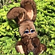Мишки Тедди ручной работы. Ярмарка Мастеров - ручная работа. Купить Ерошка зайчик из меха норки. Handmade. Заяц, подарок