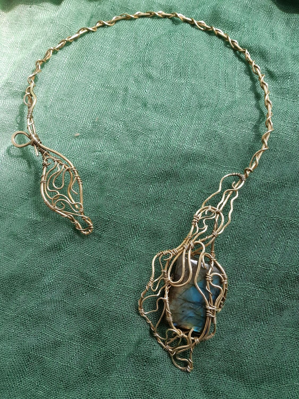 Necklace loop with Labrador in brass, Necklace, Voronezh,  Фото №1