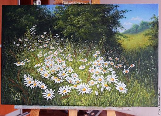 Картины цветов ручной работы. Ярмарка Мастеров - ручная работа. Купить ромашки. Handmade. Ромашки, цветы, природа, луговые цветы
