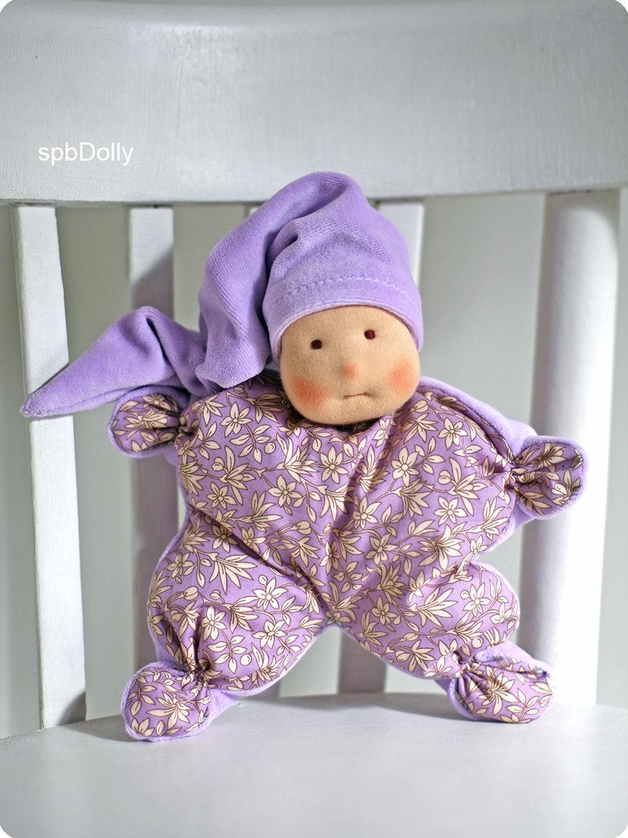 Сплюшка Лавандовый - маленькая вальдорфская куколка для сна, Вальдорфские куклы и звери, Санкт-Петербург,  Фото №1