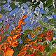 """Пейзаж ручной работы. """"Июльский вечер на даче"""" картина маслом. ЯРКИЕ КАРТИНЫ Наталии Ширяевой. Ярмарка Мастеров. Картина для интерьера"""