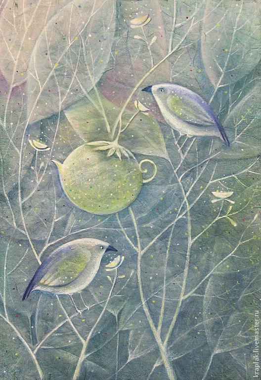 Чайная роща...Картина-принт на холсте, Картины, Санкт-Петербург,  Фото №1