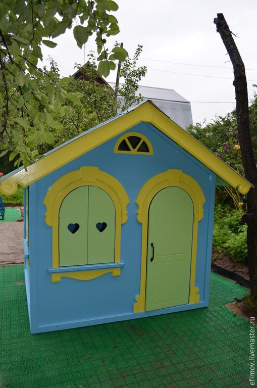 Экстерьер и дача ручной работы. Ярмарка Мастеров - ручная работа. Купить Детский домик 2. Handmade. Голубой, домик для улицы