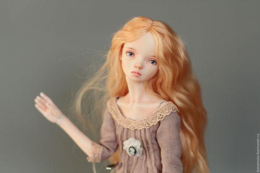 Коллекционные куклы ручной работы. Ярмарка Мастеров - ручная работа. Купить Kate. Handmade. Бежевый, фарфор, кружево винтажное