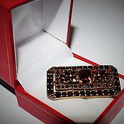 Винтаж handmade. Livemaster - original item Vintage rare brooch 19th century garnets pyrope tombac. Handmade.
