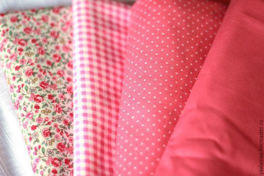 Шитье ручной работы. Ярмарка Мастеров - ручная работа. Купить Набор тканей Розовый нежный. Handmade. Ткань для рукоделия, ткань
