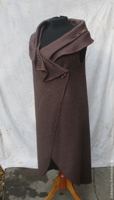 Платья ручной работы. Ярмарка Мастеров - ручная работа. Купить Кардиган из шерсти.Стильный кардиган.Дизайнерская одежда.. Handmade. Коричневый