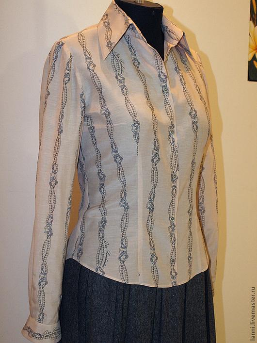Блузки ручной работы. Ярмарка Мастеров - ручная работа. Купить Блуза-рубашка. Handmade. Рубашка, шёлк