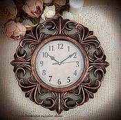 """Для дома и интерьера ручной работы. Ярмарка Мастеров - ручная работа Часы 40 см. """"Орлеан"""" старая медь. Handmade."""