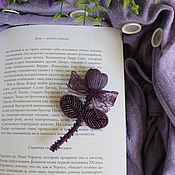 Украшения ручной работы. Ярмарка Мастеров - ручная работа Брошь Violet Flower. Handmade.