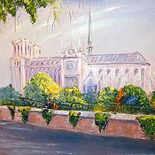 Картины и панно handmade. Livemaster - original item Notre Dame de Paris. Handmade.
