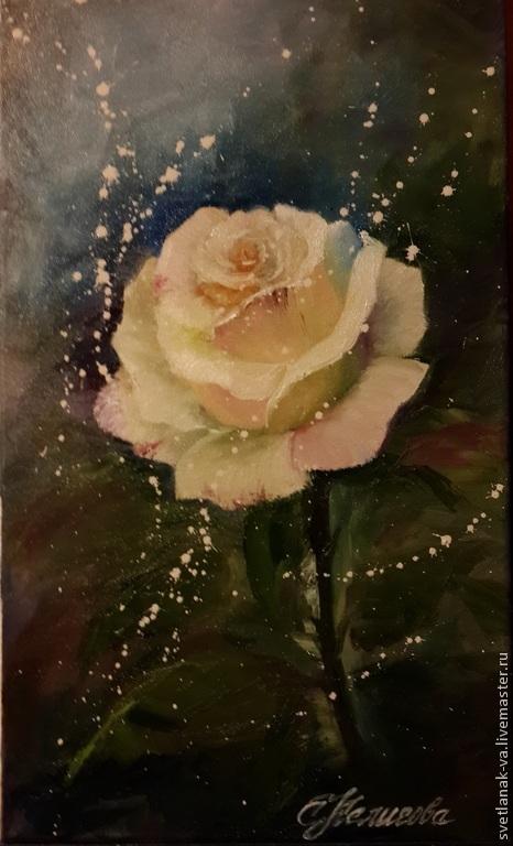 """Картины цветов ручной работы. Ярмарка Мастеров - ручная работа. Купить Картина маслом """"Роза"""". Handmade. Роза, подарок, розы"""