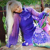 """Одежда ручной работы. Ярмарка Мастеров - ручная работа валяное платье"""" Ультрафиолет 3."""". Handmade."""