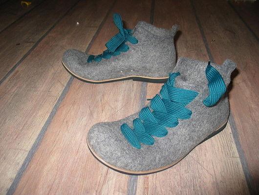 """Обувь ручной работы. Ярмарка Мастеров - ручная работа. Купить Войлочные ботинки """"CITY WALK"""". Handmade. Шерсть 100%"""