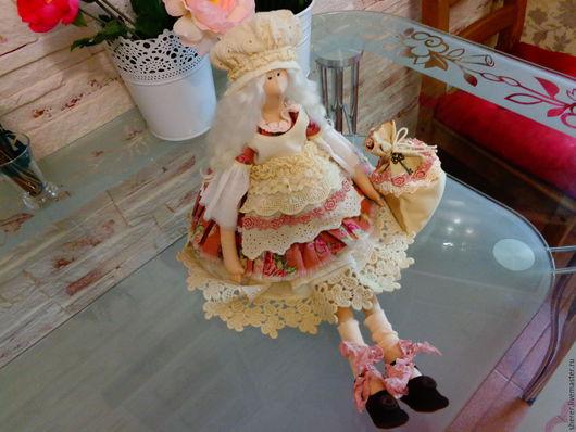 Куклы Тильды ручной работы. Ярмарка Мастеров - ручная работа. Купить Хранительница домашнего Очага. Handmade. Бежевый, для души