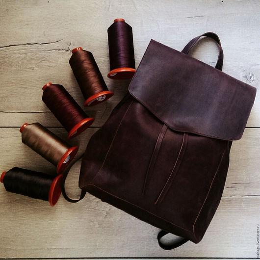 Женские сумки ручной работы. Ярмарка Мастеров - ручная работа. Купить Повседневный кожаный рюкзак Gemini для путешествий. Handmade. Коричневый
