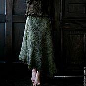 Одежда ручной работы. Ярмарка Мастеров - ручная работа Валяная юбка «Сафари». Handmade.