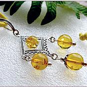 """Украшения handmade. Livemaster - original item Янтарь. Кулон """"Карусель""""  янтарь серебро Amber. Handmade."""