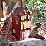 Для дома и интерьера handmade. Livemaster - original item Erste.  Red Lamp - House. Night light. Handmade.