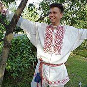 Народные рубахи ручной работы. Ярмарка Мастеров - ручная работа Рубаха мужская обрядовая. Handmade.