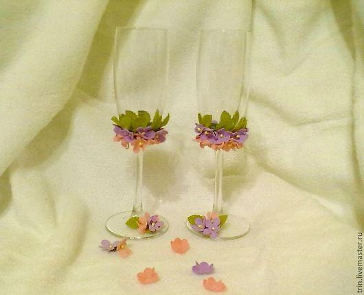 Бокалы, стаканы ручной работы. Ярмарка Мастеров - ручная работа. Купить Свадебные бокалы. Handmade. Бокалы для свадьбы