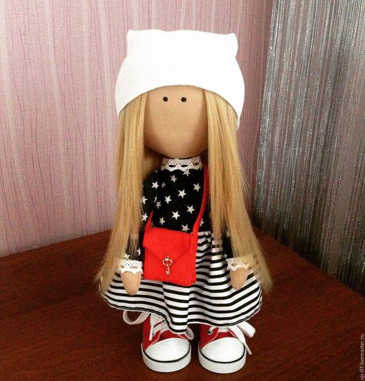 Портретные куклы ручной работы. Ярмарка Мастеров - ручная работа. Купить Интерьерная кукла. Handmade. Чёрно-белый, кукла в подарок