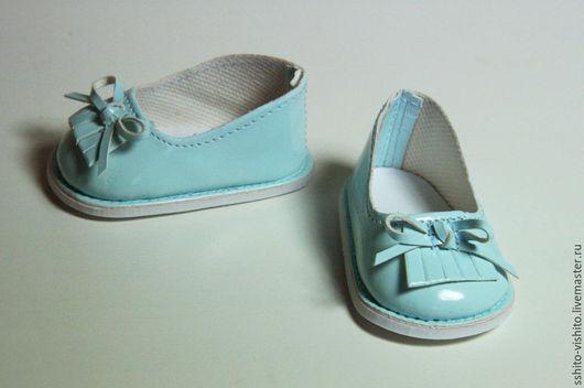 Куклы и игрушки ручной работы. Ярмарка Мастеров - ручная работа. Купить Туфли голубые 7см (обувь для кукол). Handmade. Аксессуары
