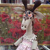 """Мягкие игрушки ручной работы. Ярмарка Мастеров - ручная работа Жирафа """"Женечка"""". Handmade."""