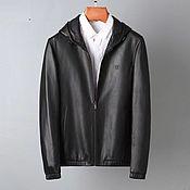 Мужская одежда handmade. Livemaster - original item Men`s outerwear: Men`s jacket, made of genuine calfskin.. Handmade.