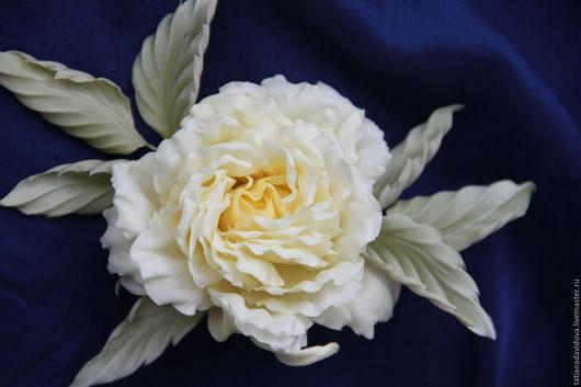 """Цветы ручной работы. Ярмарка Мастеров - ручная работа. Купить Шёлковая роза """"Голди"""". Цветы из шелка. Цветы из ткани.. Handmade."""
