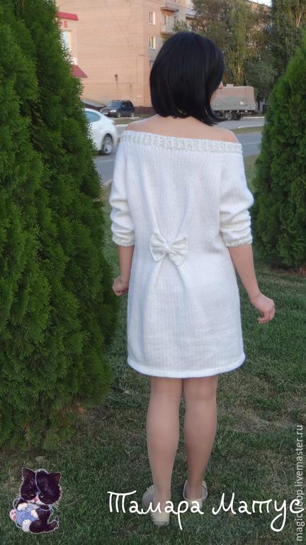 Мини-платье, туника `Белоснежность` ручной работы. Авторская модель Тамары Матус. Ярмарка Мастеров