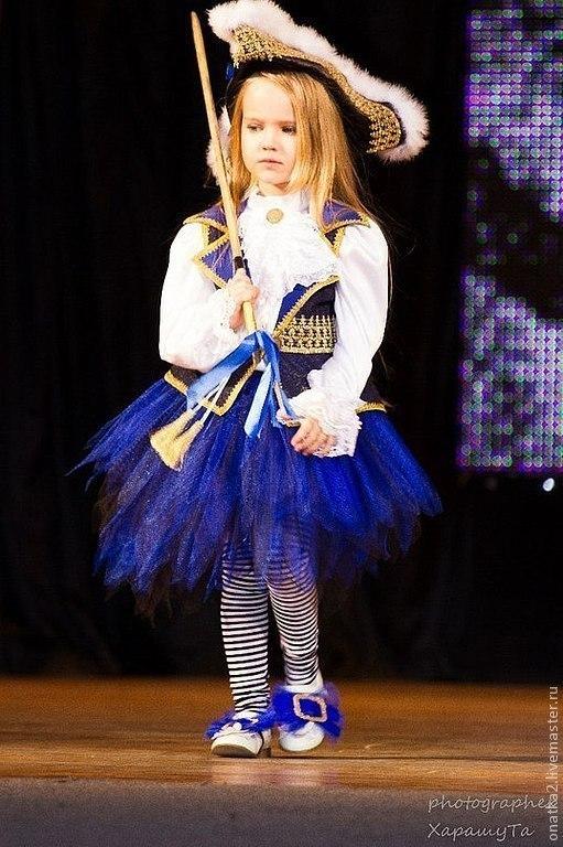 Детские карнавальные костюмы ручной работы. Ярмарка Мастеров - ручная работа. Купить Пиратка (карнавальный костюм). Handmade. Пират, карнавал