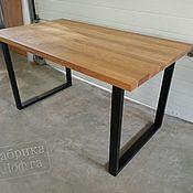 Столы ручной работы. Ярмарка Мастеров - ручная работа Обеденный стол из дуба 800х1400 мм. Handmade.