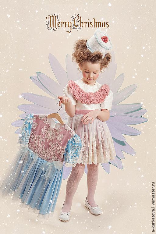 Одежда для девочек, ручной работы. Ярмарка Мастеров - ручная работа. Купить Комплект для девочки. Handmade. Кремовый, хлопок