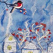 """Для дома и интерьера ручной работы. Ярмарка Мастеров - ручная работа Банный комплект """"Снегири"""". Handmade."""