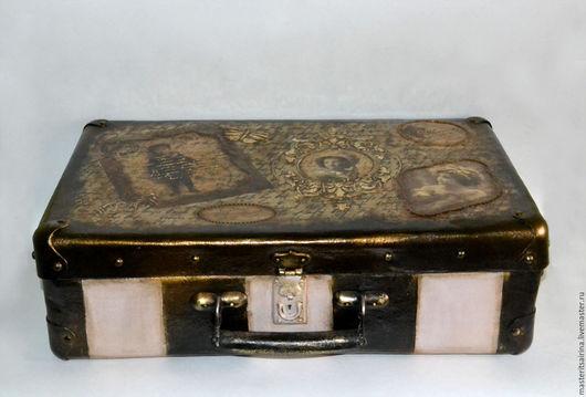 """Шкатулки ручной работы. Ярмарка Мастеров - ручная работа. Купить Ретро-чемодан """" Былое..."""". Handmade. Комбинированный"""