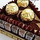 Подарки для мужчин, ручной работы. Кусочек тортика из конфет Merci подарок для мужчины. Ирина Сакула (Iriska-choko). Ярмарка Мастеров.