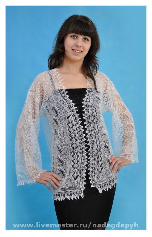 Sweatshirts & Sweaters handmade. Livemaster - handmade. Buy 7-jacket downy lilies, lilies of the valley...,clothing. cardigans and sweaters.