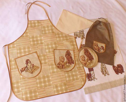 """Кухня ручной работы. Ярмарка Мастеров - ручная работа. Купить """"Маленькой Хозяюшке"""" комплект для девочки. Handmade. Фартук для девочки, мешочек"""