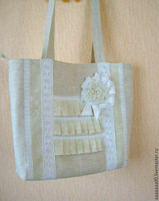 Женские сумки ручной работы. Ярмарка Мастеров - ручная работа. Купить Льняная сумка. Handmade. Сумка ручной работы