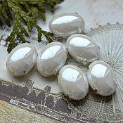 Материалы для творчества handmade. Livemaster - original item Mother of pearl rhinestone Snow 13h18 mm oval. Handmade.